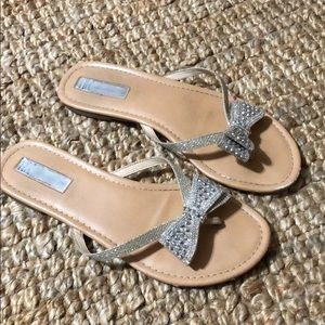 INC sparkly flip flops